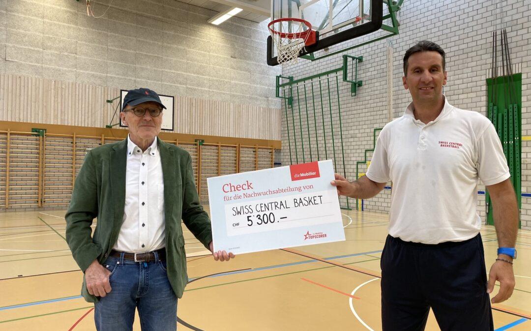 Grosszügiger Unterstützungsbeitrag der Mobiliar – SCB sagt DANKE!